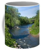 River Passing Through A Forest, Beaver Coffee Mug