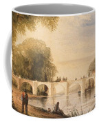 River Scene With Bridge Of Six Arches Coffee Mug by Robert Hindmarsh Grundy