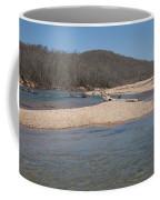 The Black River In Winter Coffee Mug