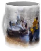 River Speed Boat White Photo Art Coffee Mug