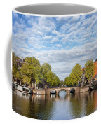 River View Of Amsterdam In The Netherlands Coffee Mug