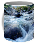 River Water Flowing Through Rocks At Dawn Coffee Mug
