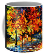 Rivershore Park - Palette Knife Oil Painting On Canvas By Leonid Afremov Coffee Mug