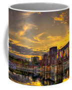 6th Street Sunset Augusta Georgia Riverwalk Marina Art Coffee Mug