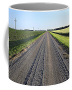 Road Across North Dakota Prairie Coffee Mug