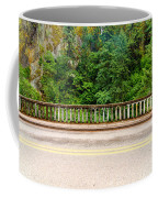 Road And Lush Green Forest Coffee Mug