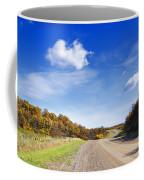 Road Approaching Hill Coffee Mug