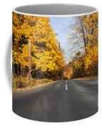 Road In Autumn Forest Coffee Mug