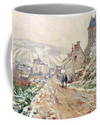 Road In Vetheuil In Winter Coffee Mug by Claude Monet