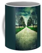 Road Lined By Trees Coffee Mug