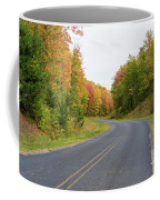 Road Passing Through A Forest, Alger Coffee Mug