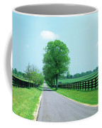 Road Passing Through Horse Farms Coffee Mug