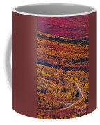 Road Through Fall Colored Tundra Coffee Mug