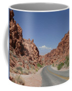 Road Throught The Valley Of Fire Coffee Mug