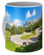 road to Pordoi pass Coffee Mug