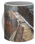 Road With Dense Fencing  Coffee Mug