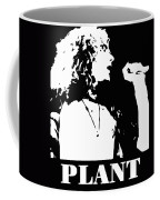 Robert Plant Black And White Pop Art Coffee Mug
