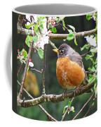 Robin In Apple Tree Coffee Mug