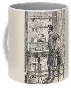 Robinson Crusoe Building Table And Chairs For His Cave Coffee Mug