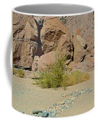 Rock Arrow And Terry Directing Into Ladder Canyon From Big Painted Canyon Trail In Mecca Hills-ca  Coffee Mug