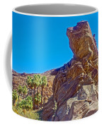Rock Formation Higher Than Fan Palms Along Lower Palm Canyon Trail In Indian Canyons Near Palm Sprin Coffee Mug