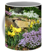 Rock Garden Flowers Coffee Mug