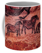 Rock Painting Of Tarpans Ponies, C.17000 Bc Cave Painting Coffee Mug