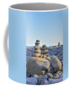 Rock Piles Zen Stones Little Hunters Beach Maine Coffee Mug