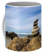 Rock Sculpture At The Beach Coffee Mug