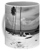 Rock The Boat  Black And White Coffee Mug