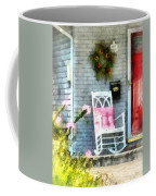 Rocking Chair With Pink Pillow Coffee Mug by Susan Savad