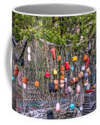 Rockport Fishing Net And Buoys Coffee Mug