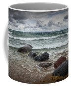 Rocks And Waves At Wilderness Park In Sturgeon Bay Coffee Mug