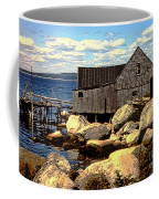 Rocks At Bay In Nova Scotia Coffee Mug