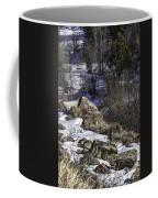 Rocks In Snow Coffee Mug