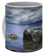 Rocks In The Water On A Lake In Acadia National Park Coffee Mug
