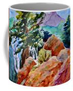 Rocks Near Red Feather Coffee Mug