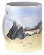 Rocks On Beach Coffee Mug