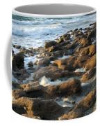 Rocky Beach At Sunrise Coffee Mug