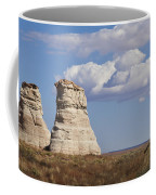 Rocky Buttes Protrude From The Middle Of Arizona Landscape Coffee Mug