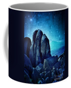 Rocky Cliff In Starlight Coffee Mug