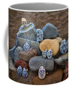 Rocky Faces In The Sand Coffee Mug