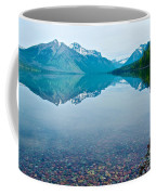 Rocky Mountain And Rocky Bottom Reflection In Lake Mcdonald In Glacier National Park-montana Coffee Mug