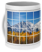 Rocky Mountain Autumn High White Picture Window Coffee Mug