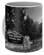 Rocky Mountain National Park Signage Coffee Mug