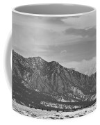 Rocky Mountains Flatirons And Longs Peak Panorama  2 Coffee Mug