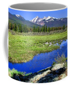 Rocky Mountains River Coffee Mug by Olivier Le Queinec