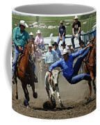 Rodeo Steer Wrestling Coffee Mug