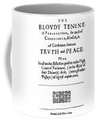 Roger Williams Tenent Coffee Mug