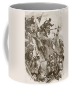 Rogers Got In, Helped Up By Lieutenant Coffee Mug by William Heysham Overend